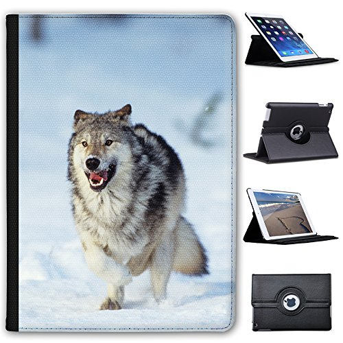 Fancy A Snuggle Wolf Running In Snow Faux Leather Case Cover/Folio for the Apple iPad Air 2 from Fancy A Snuggle