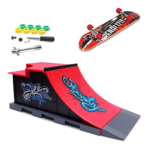 Mini Finger Skateboard and Ramp Accessories Set (C) from Fancyus