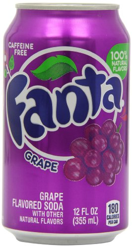 Fanta Grape Soda Can 355 ml (Pack of 12) from Fanta