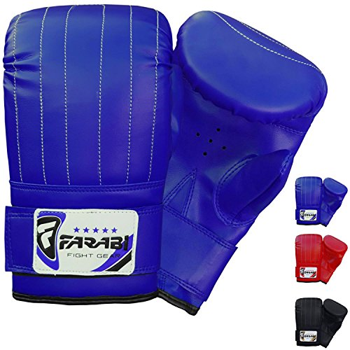 Boxing punch bag mitt gloves punching boxing gloves mma training gloves (Blue, X Large) from Farabi