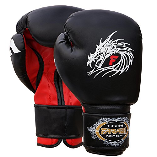 Farabi Boxing Gloves Boxing Gloves for Training Punching Sparring Muay Thai Kickboxing Gloves from Farabi Sports