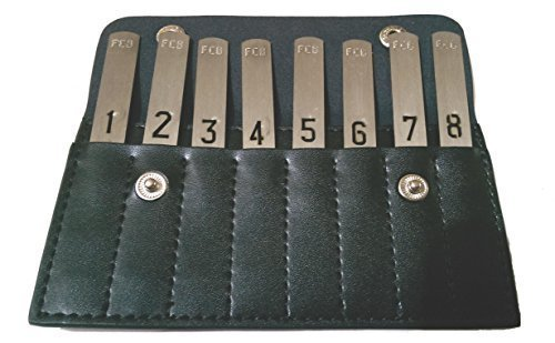 Game Day Shooting Peg Position finder in black leather wallet from Farm Cottage Brands