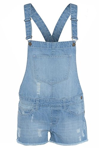 New in Stylish Summer Girl's Denim Dungaree Shorts Jumpsuit Ages 7/8, 9/10, 11/12 & 13 (Age 13, Denim) from Denim State