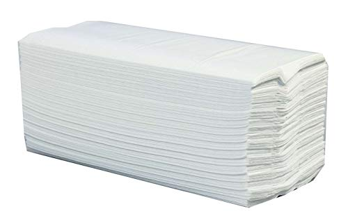 2400 x WHITE 2 PLY C-FOLD PAPER HAND TOWELS MULTI FOLD from Sirius