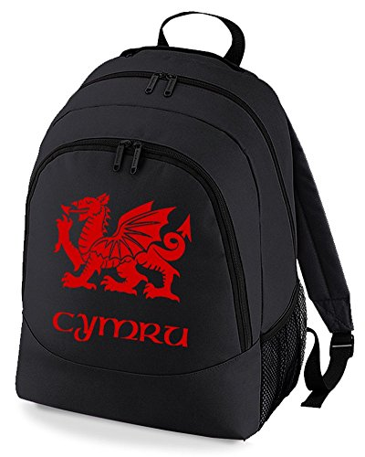 Cymru Flag of Wales - Welsh Regional Pride Graphic Unisex Backpack ruck Sack Bag from FatCuckoo