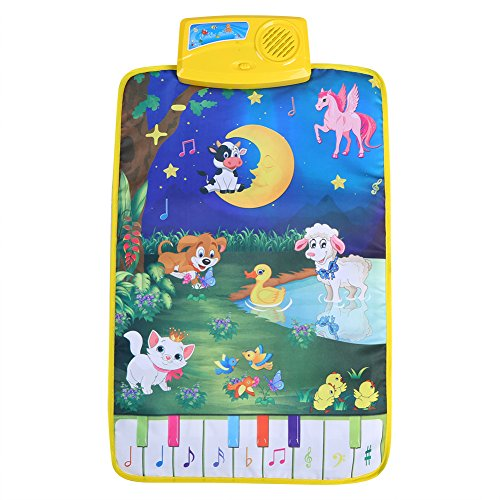 Fdit Multifunctional Baby Musical Mat for Children with Animal Design 37 x 62 cm from Fdit