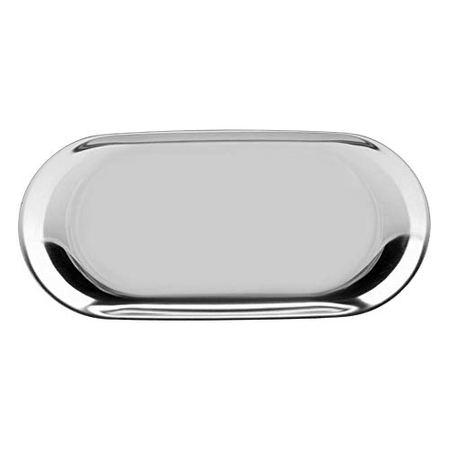 Fdit Nordic Style Storage Tray Cosmetics Jewelry Stainless Steel Cake Plate for Home Kitchen(Silver L) from Fdit