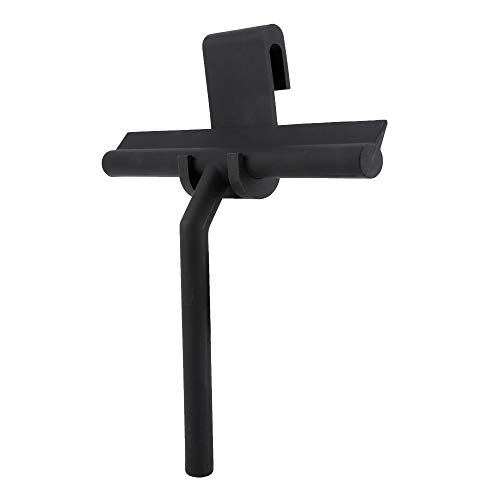 Fdit Window Shower Squeegee Scraper Cleaning Rubber Blade With Holder for Mirror Bathroom Kitchen Car Glass Doors Black from Fdit