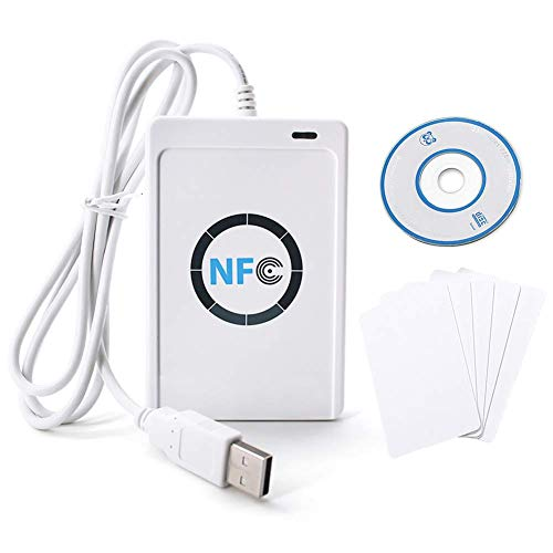 Nfc Rfid Reader/Writer Acr122U Iso 14443 A/B Nfc Reader Rfid Reader Card Reader + Free Software In White from Fdit