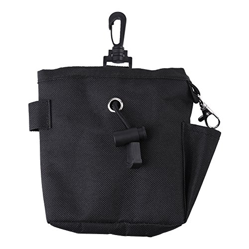 Pet Treat Bag Dog Obedience Training Waist Pouch Food Snack Bag for Small Items and Food Storage Black Waist Bag(Black) from Fdit
