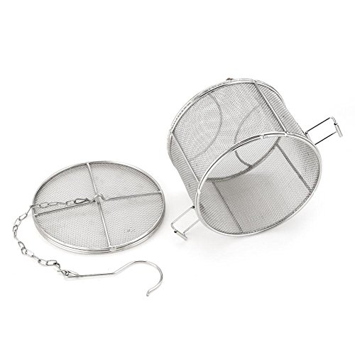 Stainless Steel Spice Seasoning Strainer Tea Ball Strainer Soup Seasonings Seperation Basket Spice Filter Kitchen Tools 5.52 x 3.94 inch (1410cm) from Fdit