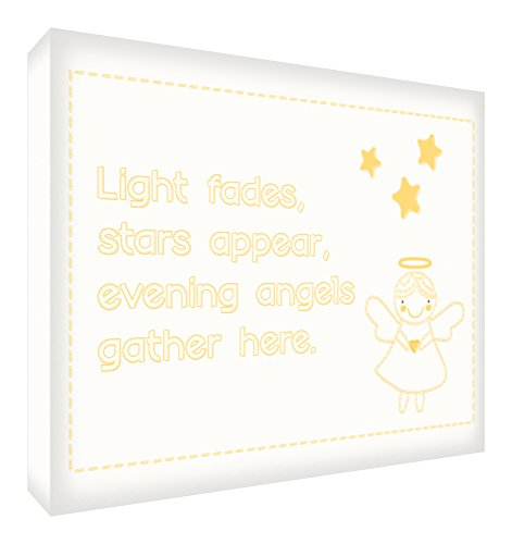 Feel Good Art A6 Diamond Polished Modern Typographic Acrylic Décor Block/Token (14.8 x 10.5 x 2 cm, Yellow, Night Fades Stars Appear Design) from Feel Good Art