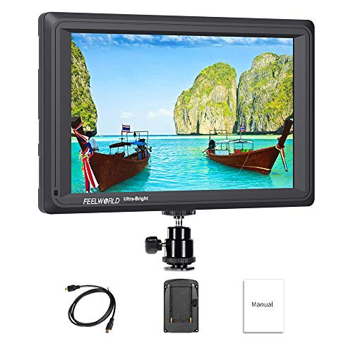 Feelworld FW279 7 Inch On Camera Field Monitor DSLR Focus Video Assist Full HD 1920x1200 IPS with 4K HDMI Input Output 2200nit High Brightness from Feelworld