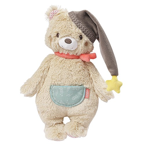 Fehn 060225 Fehn 060225 Bear Puppet Cuddly for Gripping, Soft Touch, Cuddle and Love for Babies and Toddlers Age 0 + Months | Size: 25 cm, Multi-Colour from Fehn
