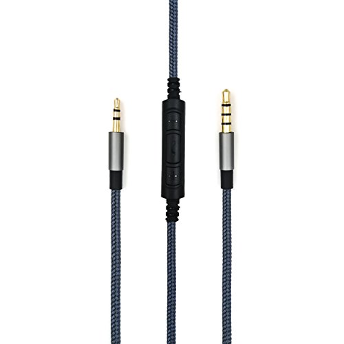 FeiYen 3.5mm - 2.5mm Male Replacement Cable for Bose oe2 / oe2i / AE2 / QC35 headphones, Remote volume control & Mic cord fit Samsung Galaxy Sony Xiaomi Huawei Android phone from FeiYen