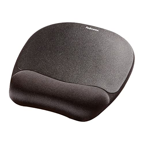 Fellowes Memory Foam Optical Friendly Mouse Mat with Wrist Support, Black from Fellowes