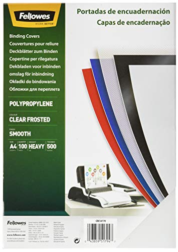 Fellowes 936634 - Polypropylen Front Page 100 units, Translucent from Fellowes