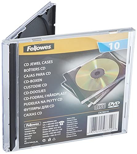 Fellowes 98310 Cd Jewel Case - Black (Pack of 10) from Fellowes