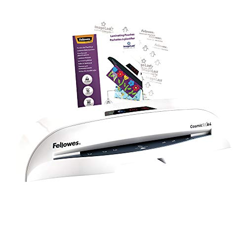Fellowes Cosmic 2 A4 Home Office Laminator, 80-125 Micron, Including 10 Free Pouches from Fellowes