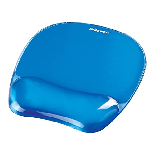 Fellowes Crystals Gel Mouse Mat with Wrist Support, Blue from Fellowes