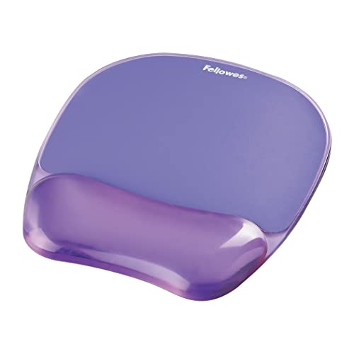 "Fellowes Crystals Gel Mouse Mat with Wrist Support, Purple, 9""*7.5"" from Fellowes"