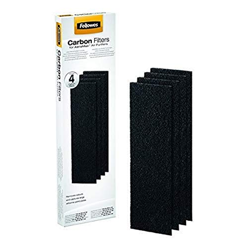 Fellowes DX5/DB5 Aeramax Carbon Filter - Small, Pack of 4, White from Fellowes