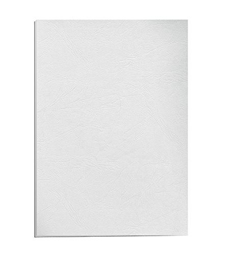 Fellowes A4 100 Percent Recyclable Leatherboard Binding Covers, Heavyweight, 250 gsm Presentation Covers, FSC, White, Pack of 25 from Fellowes