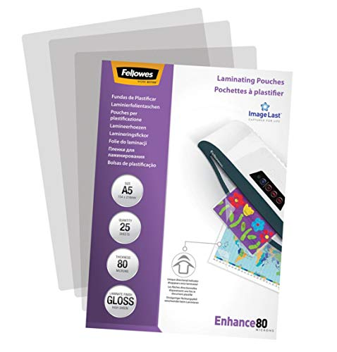 Fellowes ImageLast A5 80 Micron Laminating Pouch - (Pack of 25) from Fellowes