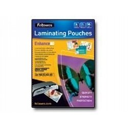 Fellowes Laminating Pouches Enhance 80 micron - Lamination pouches - 100 x glossy - A4 (210 x 297 mm) from Fellowes