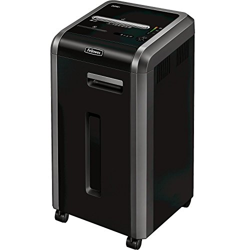 Fellowes Powershred 225Ci  24 Sheet Cross Cut Commercial Shredder With Jam Proof, SafeSense and SilentShred from Fellowes