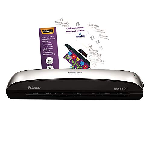 Fellowes Spectra A3 Home Office Laminator, 80-125 Micron, Including 10 Free Pouches from Fellowes