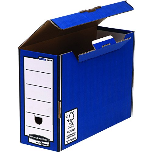 R-Kive Premium Transfer File W127xD359xH254mm Blue and White Ref 00059-FF [Pack of 10] from Fellowes