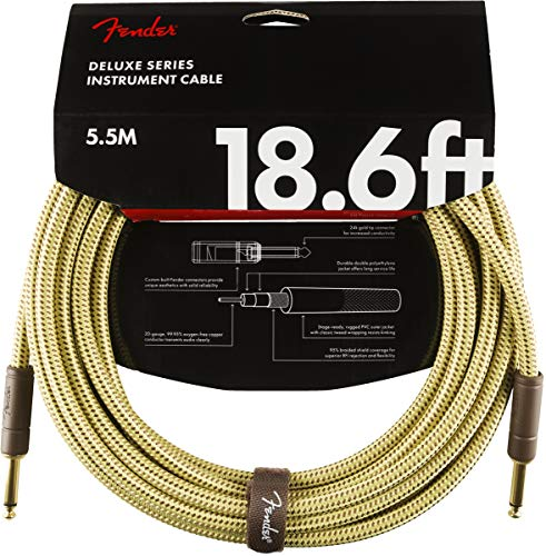 Fender Deluxe Series Instrument Cable - 18.6 ft – STR/STR – Tweed from Fender