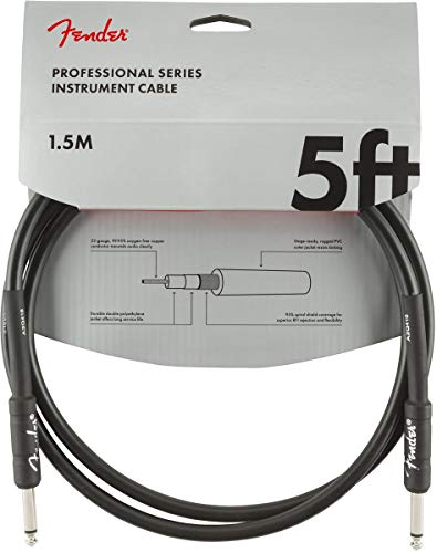 Fender Professional Series Instrument Cable - 5 ft - STR/STR - black from Fender