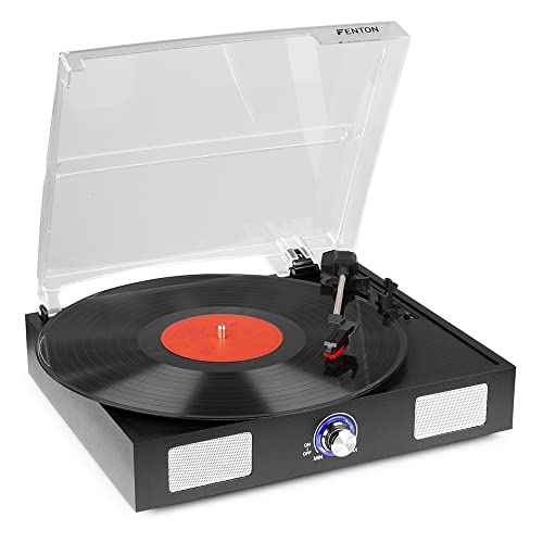 Retro 3 Speed Vinyl Record Player Turntable Built-In Speakers USB *FREE Software from Fenton