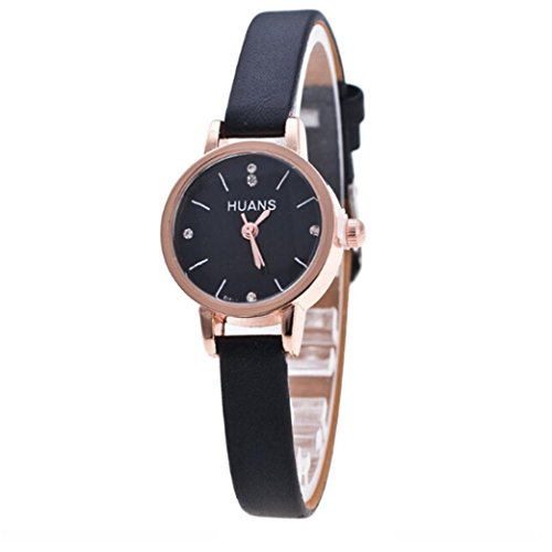 Festiday Fashion Quartz Watch for Women Female Simple Casual Watch Analog Display Leather Strap Small Dial Watch On Sale Clearance Wrist Watch Creative Birthday Gift (H) from Festiday