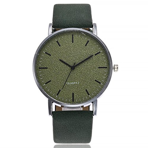 Festiday Simple Fashion Quartz Watches For Women Vansvar Colorful Leather Strap Popular Casual Watch Clearance Female Analog Wristwatch On Sale Watches Perfect Ladies Birthday Gifts (Green) from Festiday