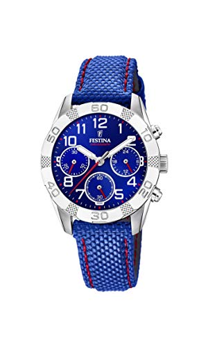 Festina Unisex Child Chronograph Quartz Watch with Leather Strap F20346/2 from Festina
