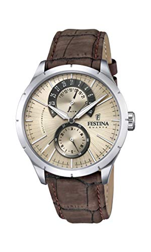 FESTINA Mens Analogue Quartz Watch with Leather Strap F16573/9 from Festina