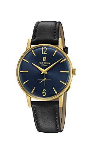 Festina Mens Analogue Quartz Connected Wrist Watch with Leather Strap F20249/4 from Festina