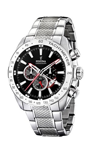 FESTINA Men's Analogue Quartz Watch with Stainless Steel Strap F16488/5 from Festina