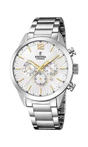 Festina Mens Chronograph Quartz Watch with Stainless Steel Strap F20343/1 from Festina