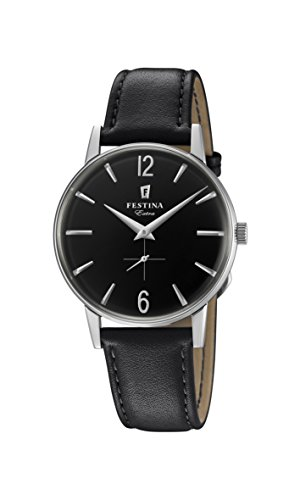 Festina Mens Analogue Classic Quartz Watch with Leather Strap F20248/4 from Festina
