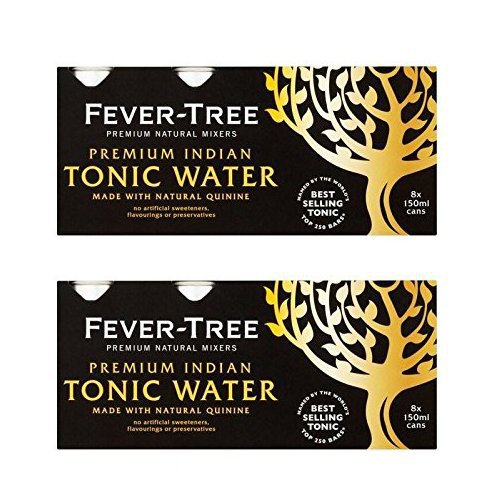 Fever-Tree Premium Indian Tonic Water Cans 8 x 150ml (Pack of 2) from Fever Tree