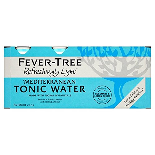 Fever Tree Refreshingly Light Mediterranean Tonic Water, 8 x 150 ml (Pack of 3, Total 24 Cans) from Fever Tree