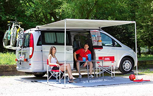 Fiamma F35 Pro Awning 250 Titanium Case Royal Grey Fabric (Optional Privacy Room CS Light) 06762B01R from Fiamma