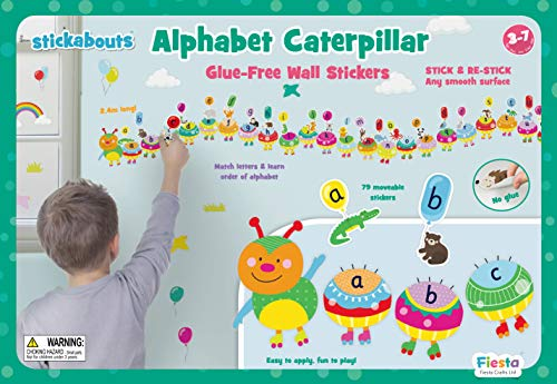 Fiesta Crafts T-2929 Alphabet Caterpillar Stickabouts Wall Stickers, Various from Fiesta Crafts