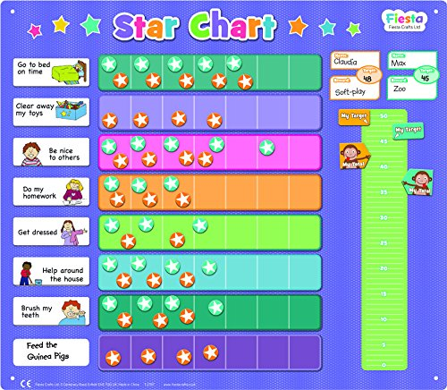 Fiesta Crafts Star Chart / Reward Chart Magnetic Activity Chart - Extra Large 43 x 38 cm from Fiesta Crafts