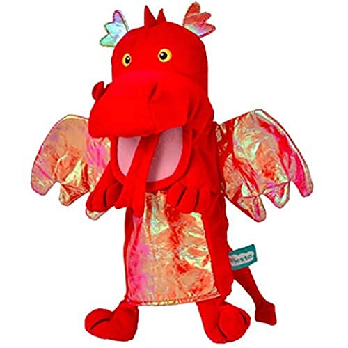 Fiesta Crafts T-2363 Fiesta Red Dragon Hand Puppet, Assorted Colours Lime Green from Fiesta Crafts