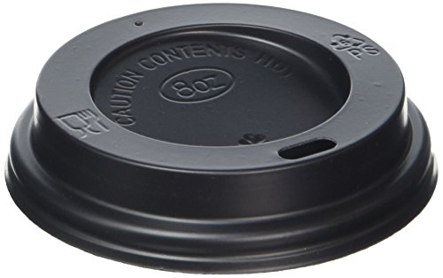 Fiesta HW08HL040-2 Lid For Hot Cups, 8 oz, Black (Pack 50) from Fiesta